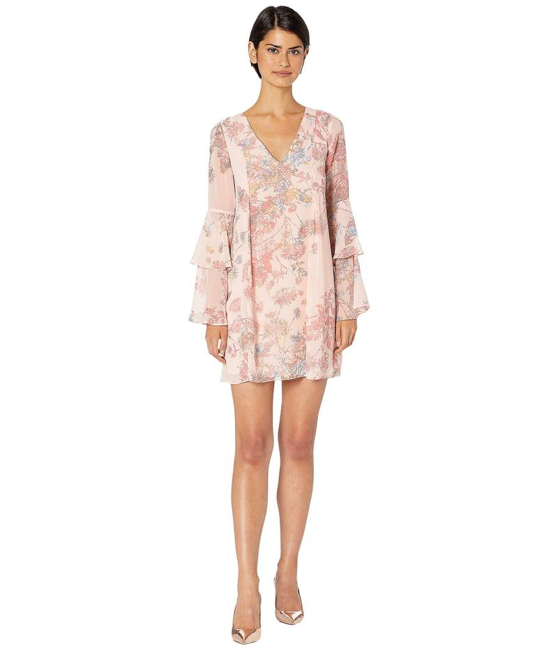 BCBジェネレーション レディース ワンピース トップス Cocktail Bow Back Tiered Sleeve Woven Dress Light Pink