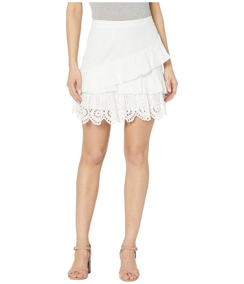 BCBジェネレーション レディース スカート ボトムス Ruffled Woven Mini Skirt Optic White