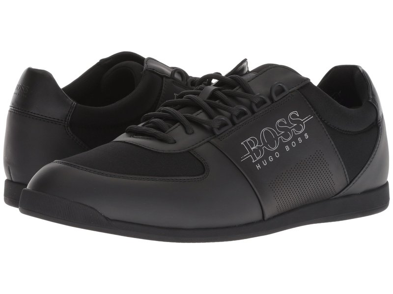 ヒューゴボス メンズ スニーカー シューズ Maze Low Profile Sneaker By Boss Green Black