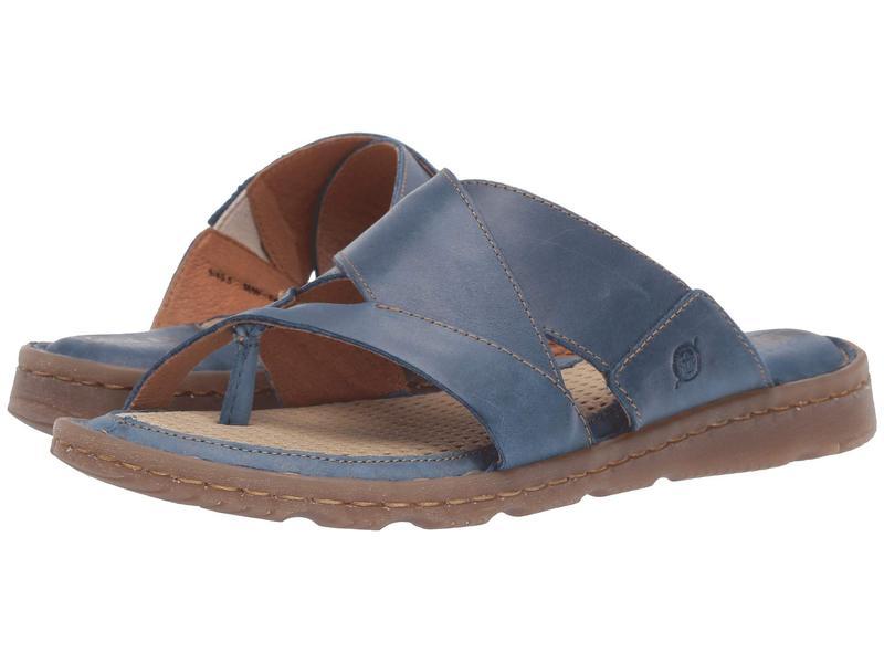 ボーン レディース サンダル シューズ Sorja II Blue Full Grain Leather