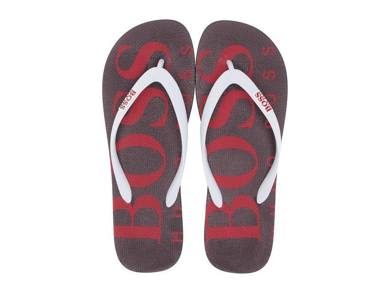 ヒューゴボス メンズ サンダル シューズ Wave Thong Sandal By Boss Green Open Red