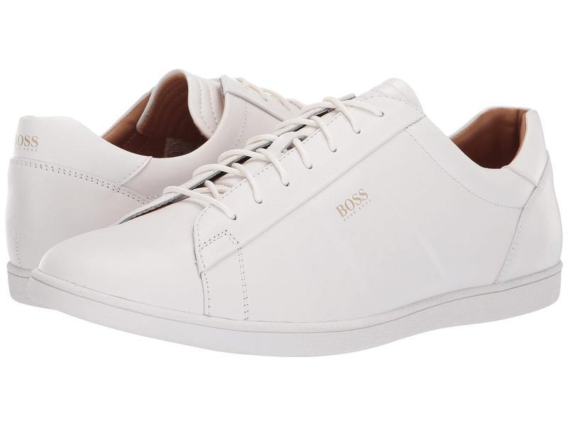 ヒューゴボス メンズ スニーカー シューズ Rumba Leather Sneaker By BOSS White