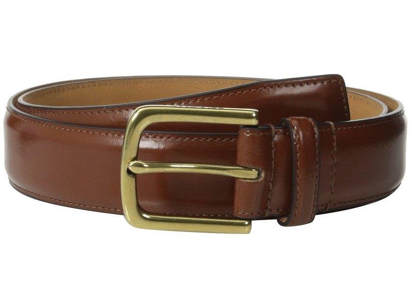 コールハーン メンズ ベルト アクセサリー 32mm Spazzolato Feather Edge Stitched Strap British Tan/Brass
