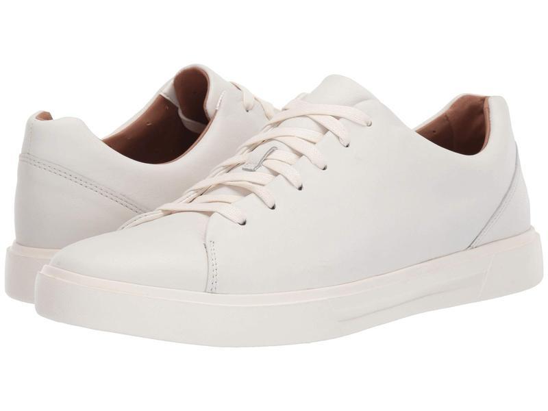 クラークス メンズ スニーカー シューズ Un Costa Lace White Leather