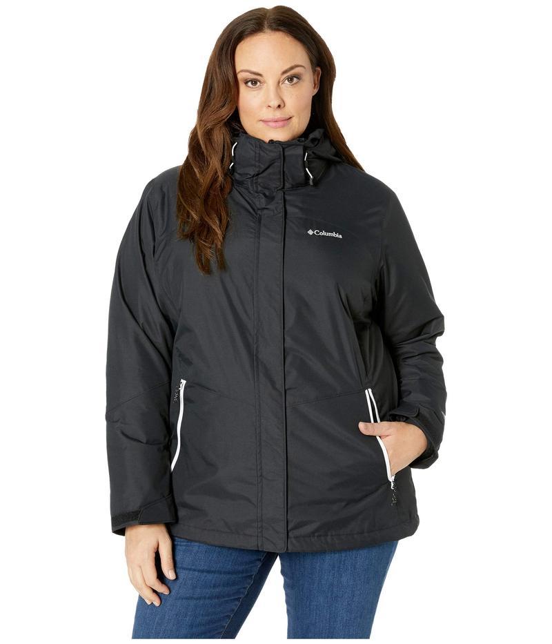 コロンビア レディース コート アウター Plus Size Bugaboo¢ II Fleece Interchange Jacket Black/White