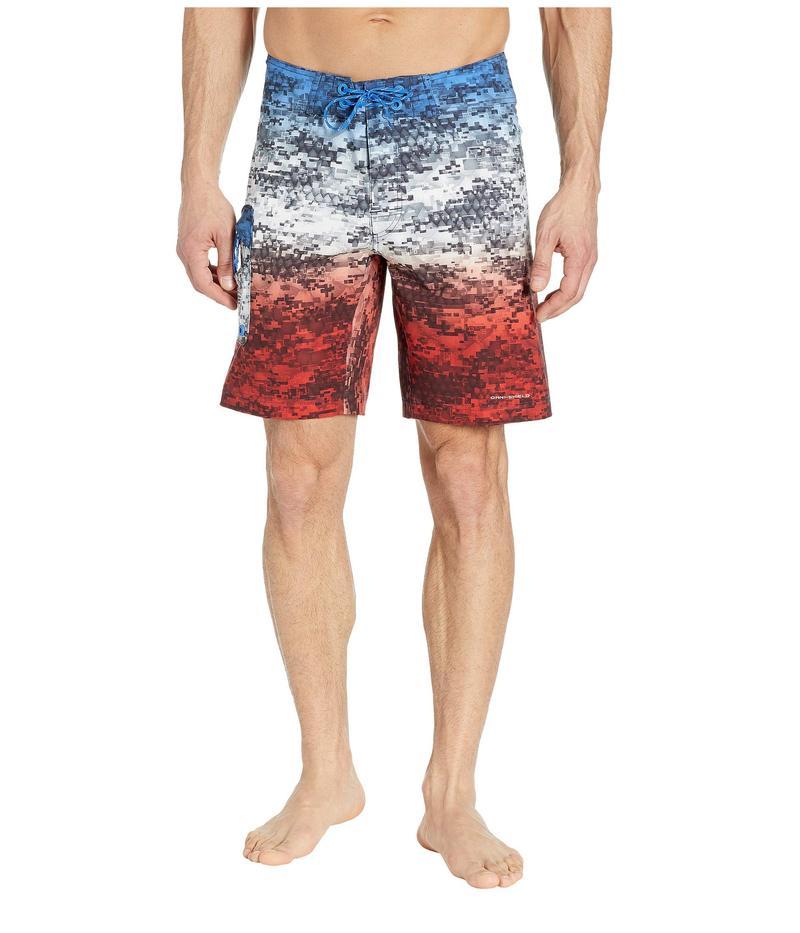 コロンビア メンズ ハーフパンツ・ショーツ 水着 PFG Offshore II 9 inch Board Shorts Americana Digi Camo Fade
