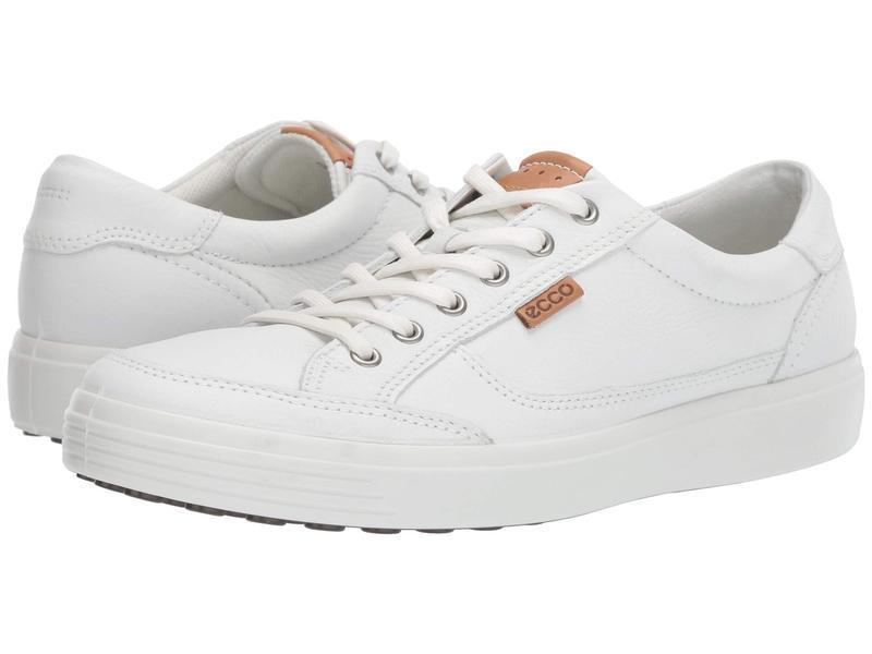 エコー メンズ スニーカー シューズ Soft Retro Sneaker White Cow Leather