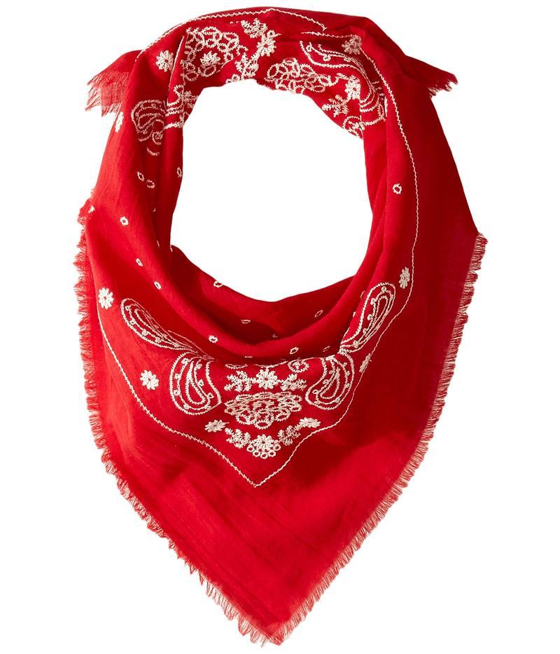 エコーデザイン レディース マフラー・ストール・スカーフ アクセサリー Embroidered Cotton Bandana Scarf Resort Red