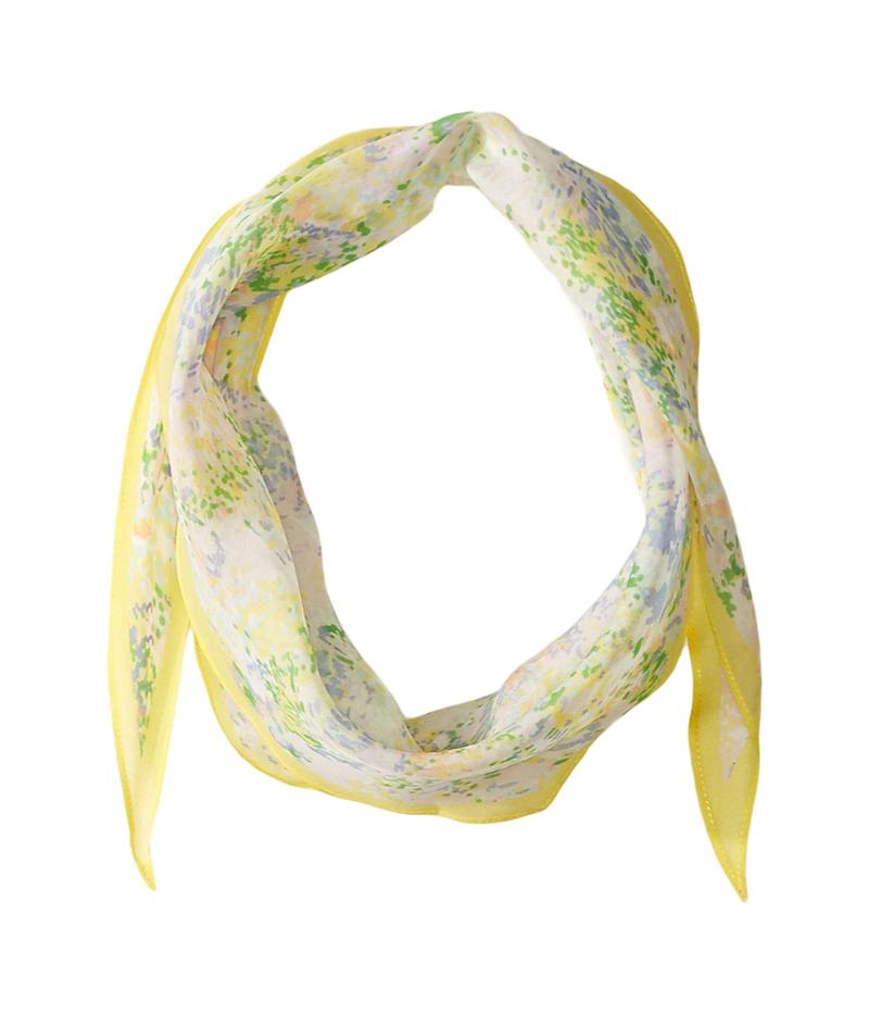 エコーデザイン レディース マフラー・ストール・スカーフ アクセサリー Ditzy Floral Silk Diamond Shape Scarf Banana