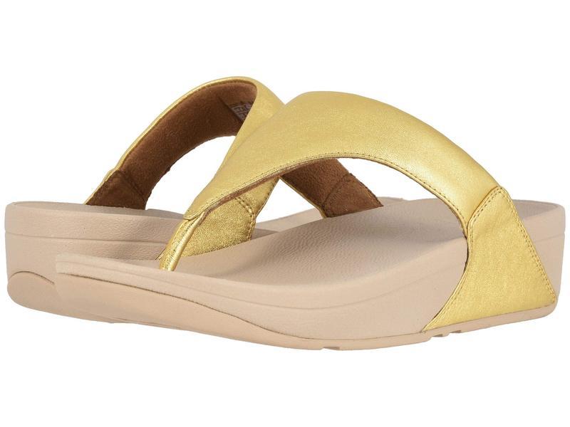 フィットフロップ レディース サンダル シューズ Lulu Leather Toe Post Sandal Artisan Gold/Frappe