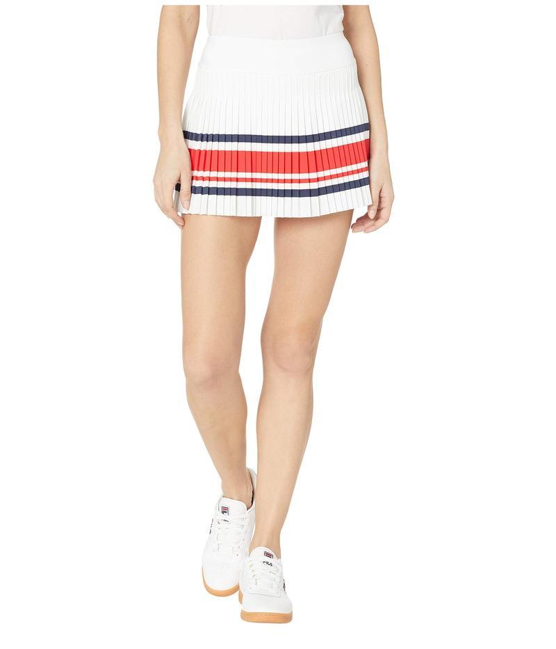 フィラ レディース スカート ボトムス Heritage Tennis Pleated Skort White/Chinese Red/Navy