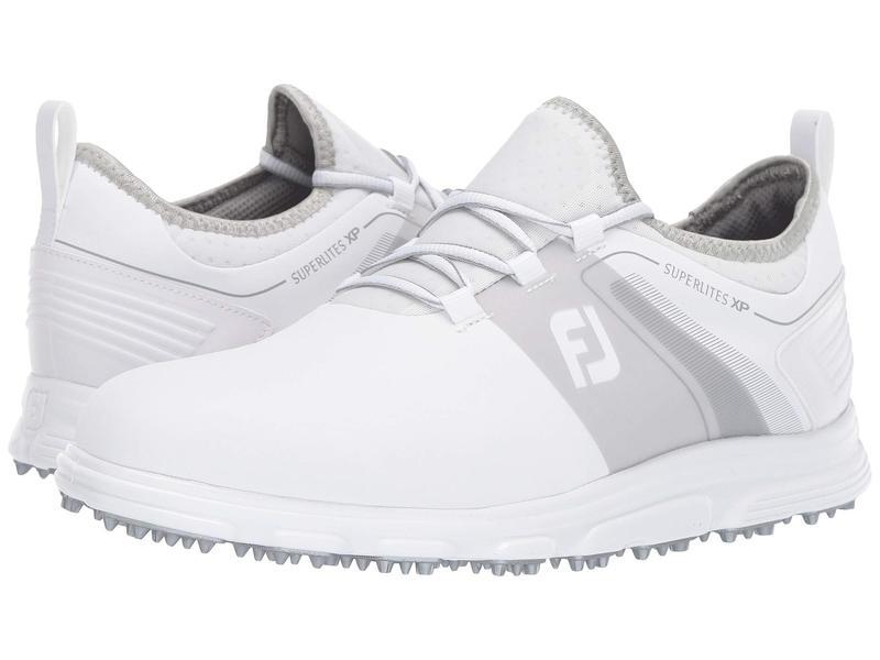フットジョイ メンズ スニーカー シューズ Superlites XP Spikeless White/Grey