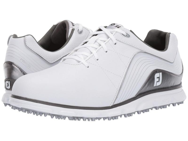 フットジョイ メンズ スニーカー シューズ Pro SL Spikeless White/Silver