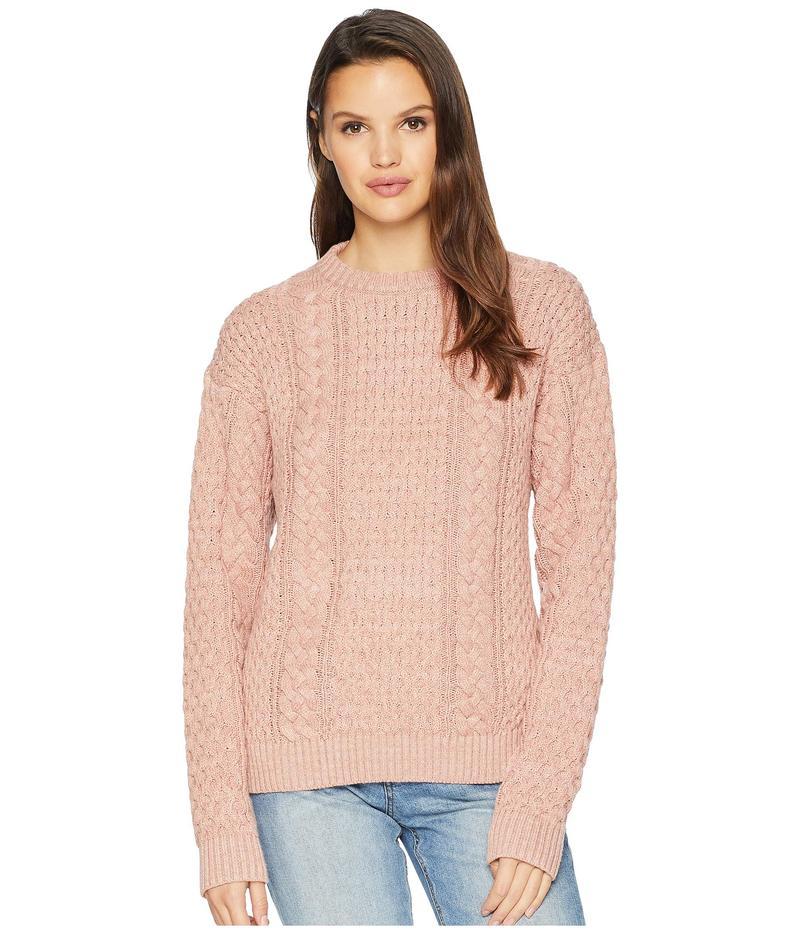 フライ レディース ニット・セーター アウター Erin Fisherman Cable Knit Sweater Misty Rose