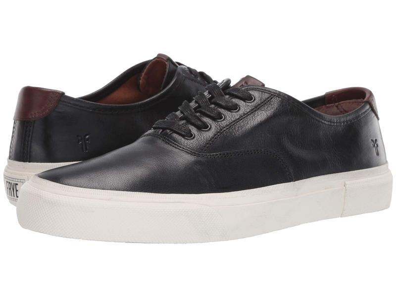 フライ メンズ スニーカー シューズ Ludlow Bal Oxford Black/White Waxed Full Veg