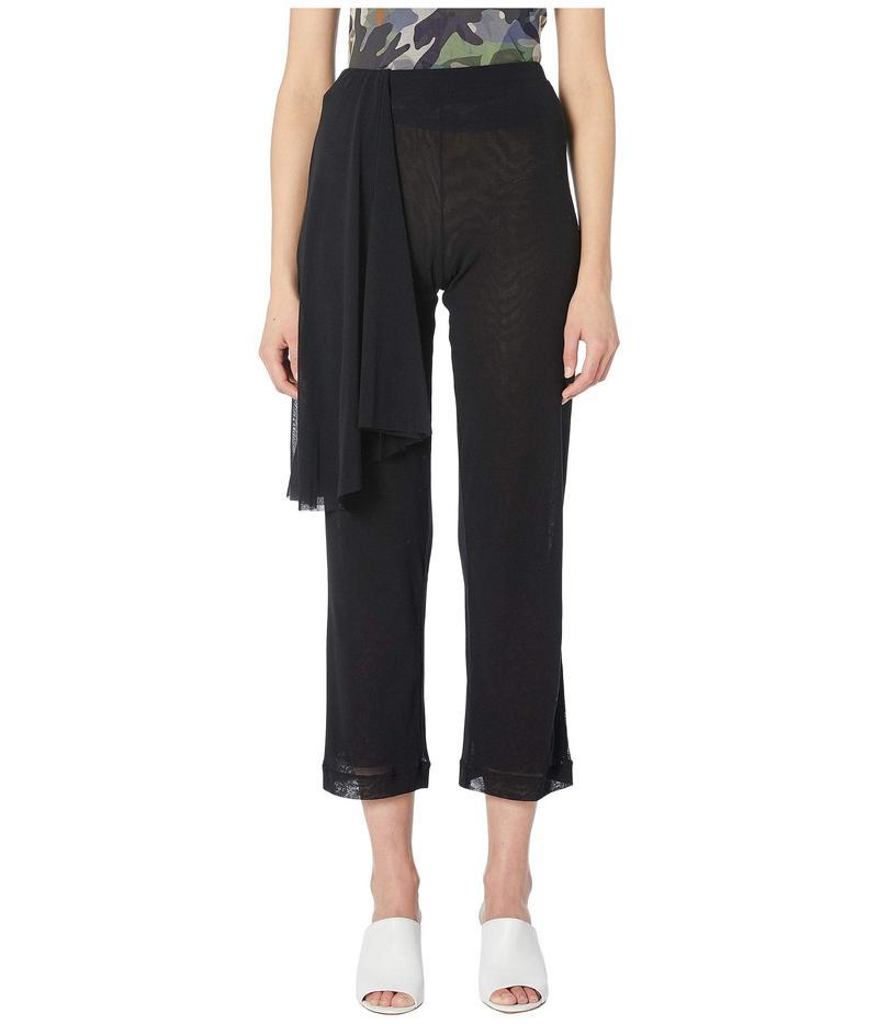 フィッジ レディース カジュアルパンツ ボトムス Solid Tulle Black Wrap Pants Nero