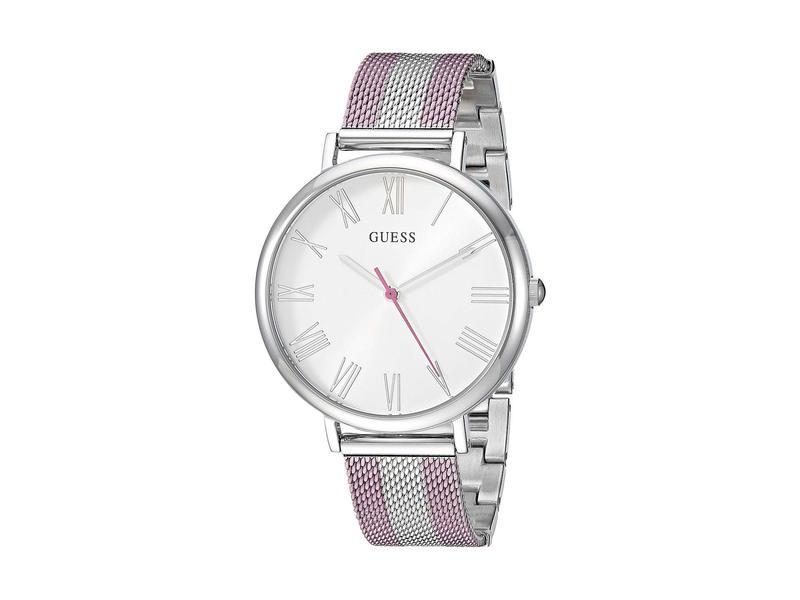 ゲス レディース 腕時計 アクセサリー U1155L5 Pink/Silver-Tone