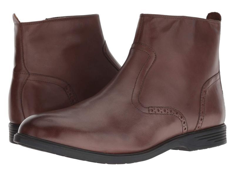 ハッシュパピー メンズ ブーツ・レインブーツ シューズ Shepsky Zip Boot Brown Leather