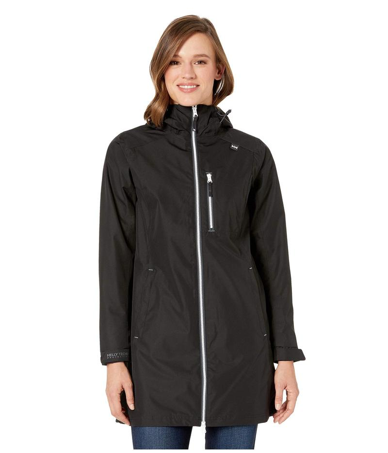 ヘリーハンセン レディース コート アウター Long Belfast Jacket Black 1