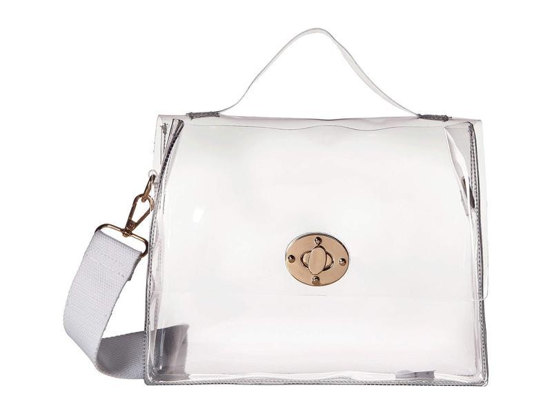 ハットアタック レディース ハンドバッグ バッグ Clear Stadium Bag with Additional Strap Handle Clear