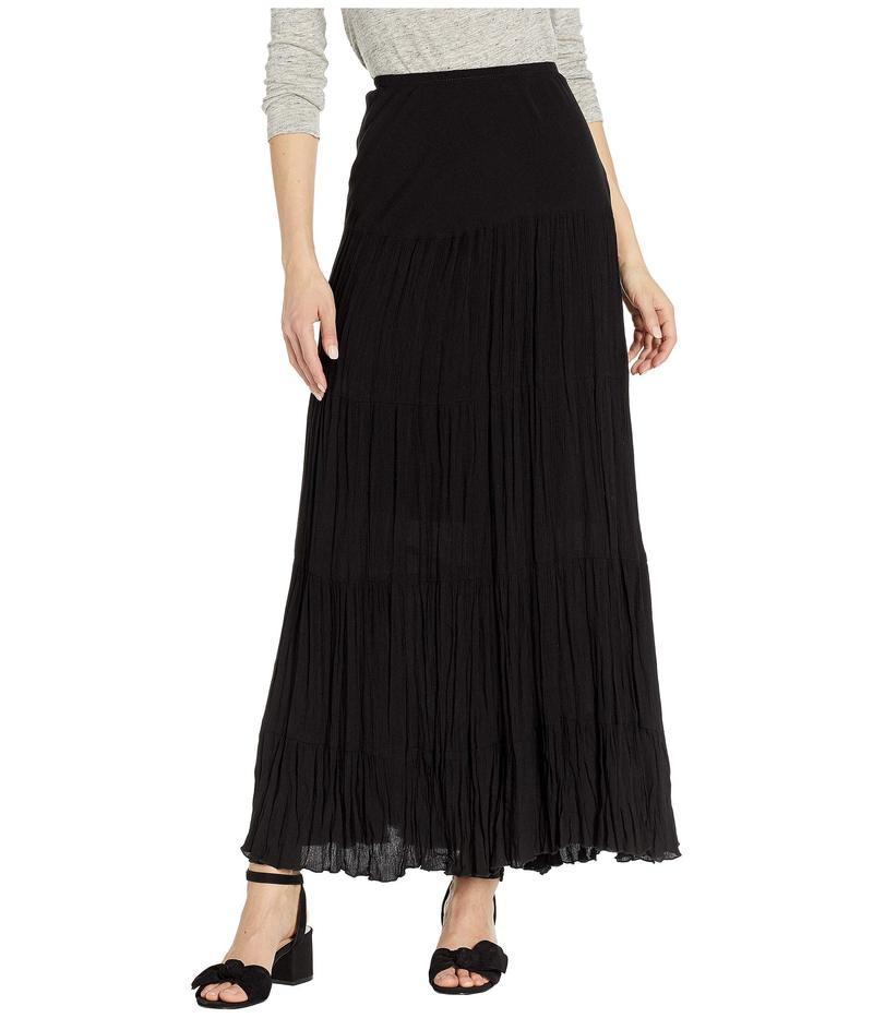 カレンケーン レディース スカート ボトムス Crushed Tiered Maxi Skirt Black