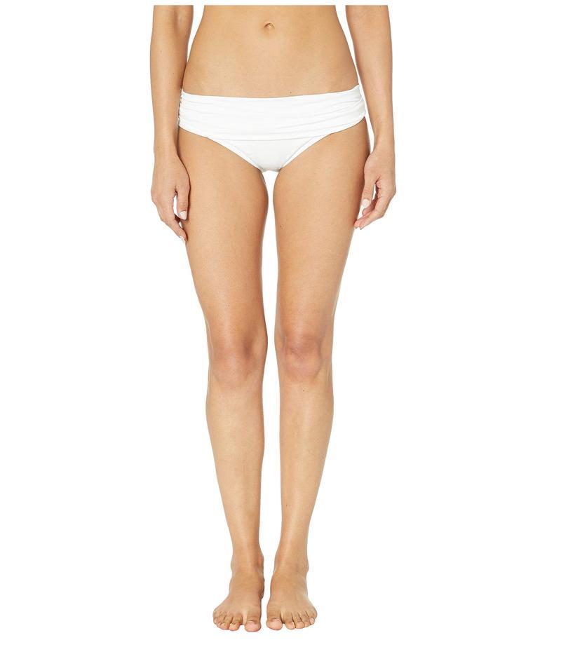 ラブランカ レディース ボトムスのみ 水着 Island Goddess Shirred Waist Hipster Bottom White