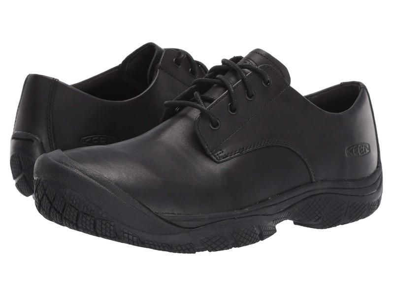 キーン メンズ オックスフォード シューズ Soft Toe Kanteen Oxford Black/Black