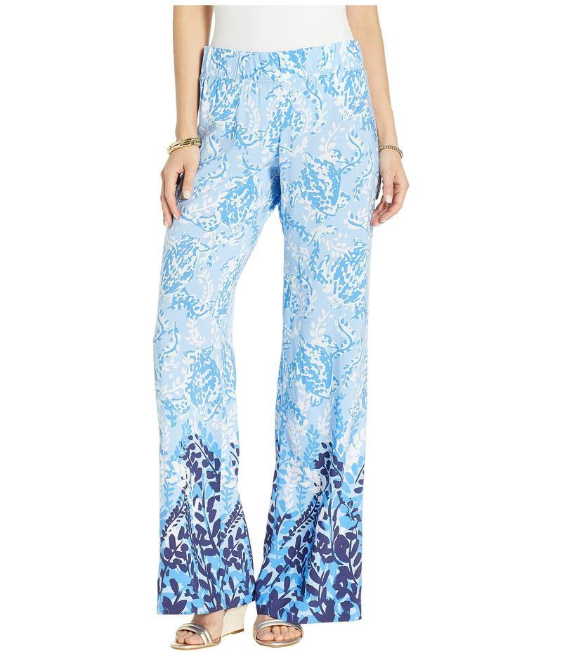 リリーピュリッツァー レディース カジュアルパンツ ボトムス Bal Harbour Palazzo Blue Peri Turtley Awesome Engineered Pants