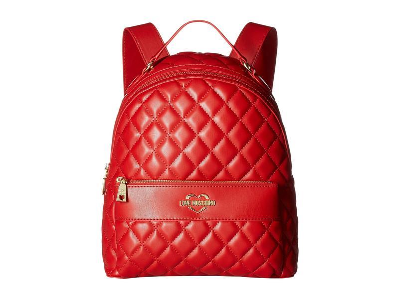 ラブ モスキーノ レディース バックパック・リュックサック バッグ Super Quilted Backpack Red 2