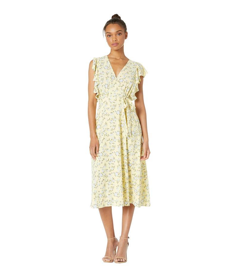 ワンステイト レディース ワンピース トップス Blossom Cluster Flounce Sleeve Wrap Dress Honey Suckle
