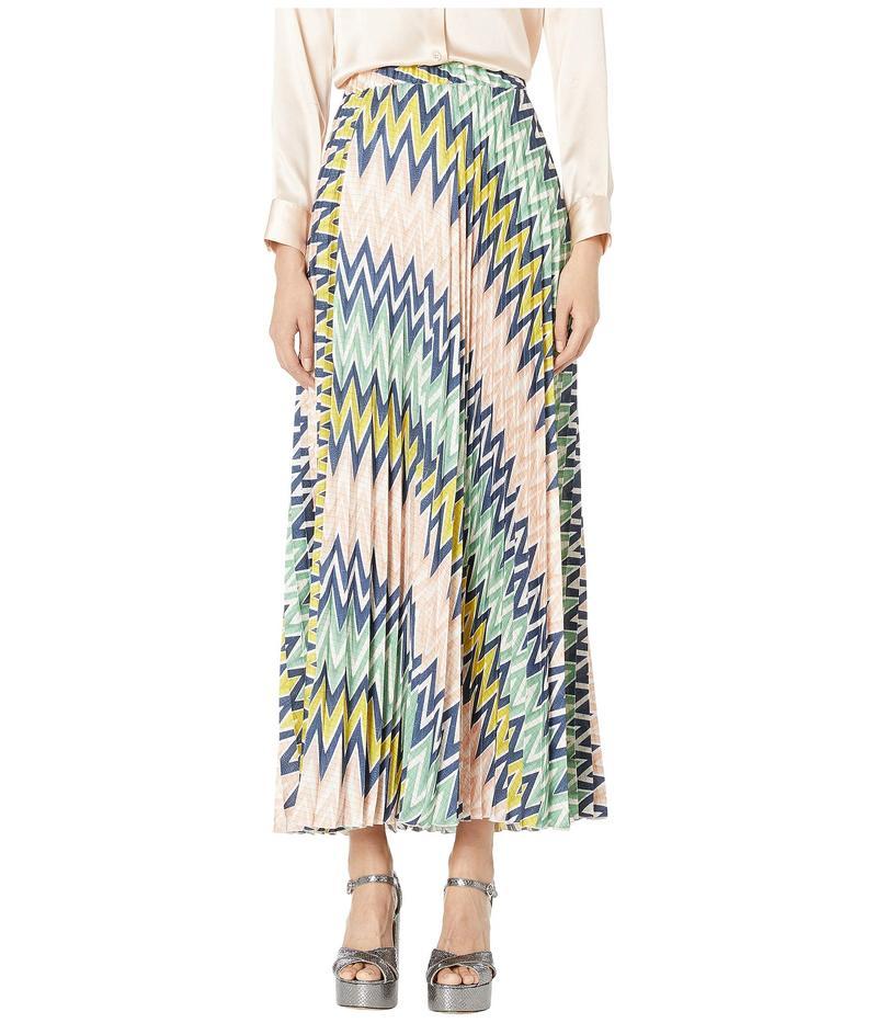 エム ミッソーニ レディース スカート ボトムス Maxi Plizze Skirt in Zigzag Print Multi