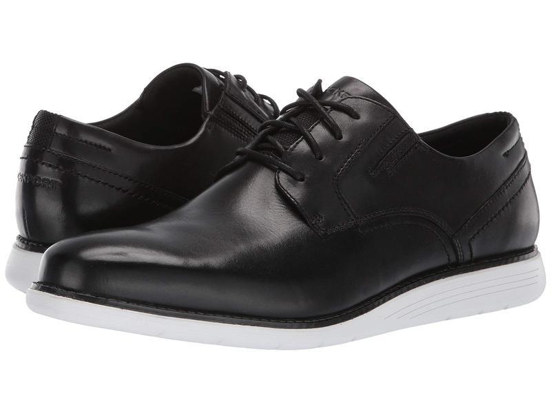 ロックポート メンズ オックスフォード シューズ Total Motion Sports Dress Plain Toe Black/White