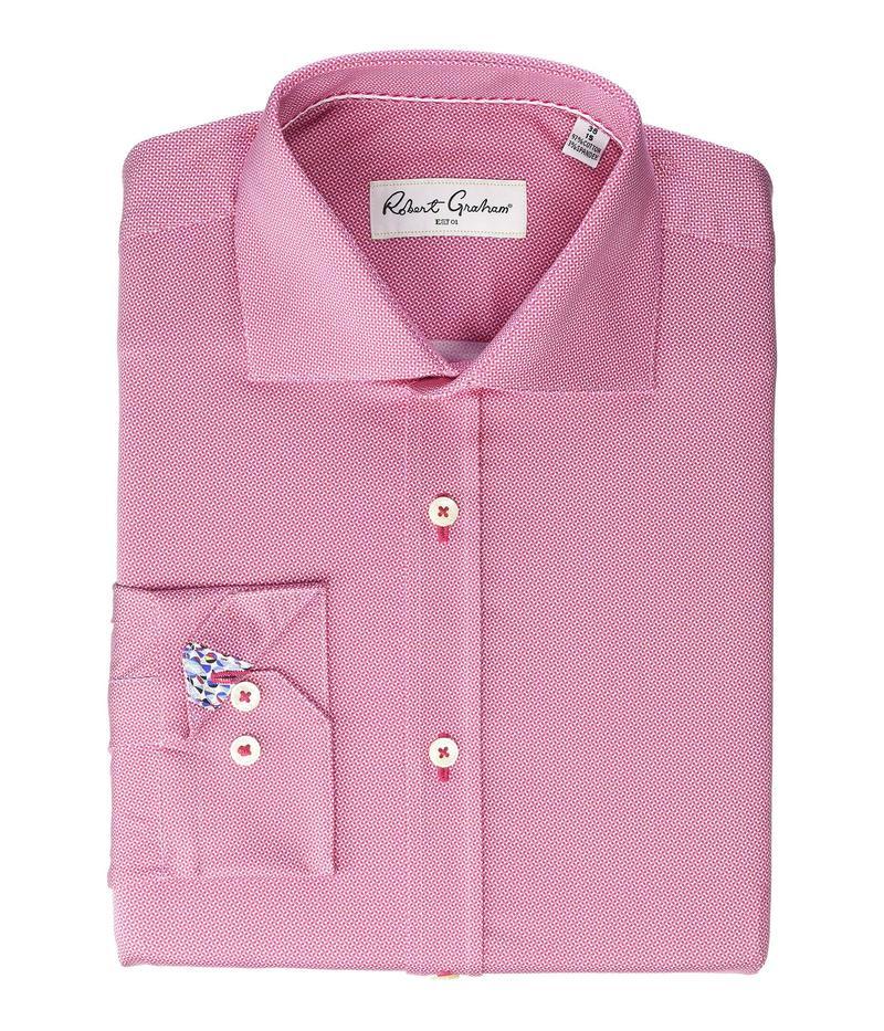 ロバートグラハム メンズ シャツ トップス Fulk Long Sleeve Stretch Dress Shirt Berry