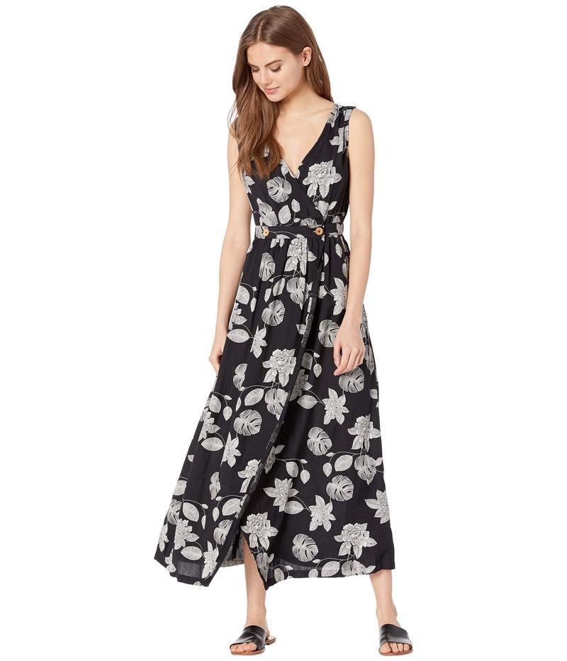 ロキシー レディース ワンピース トップス In the Mood for Dance Woven Dress Anthracite Flower of Love