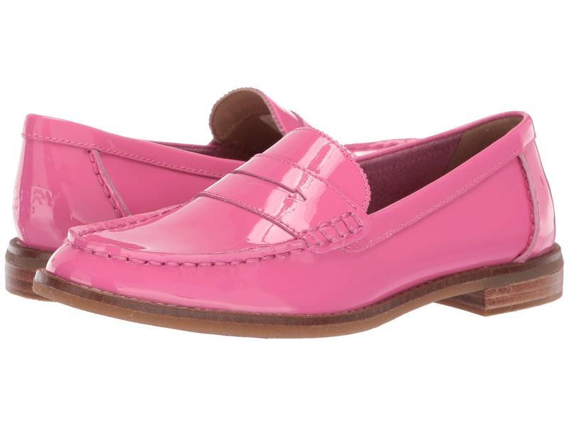 スペリー レディース スリッポン・ローファー シューズ Seaport Patent Penny Loafer Pink