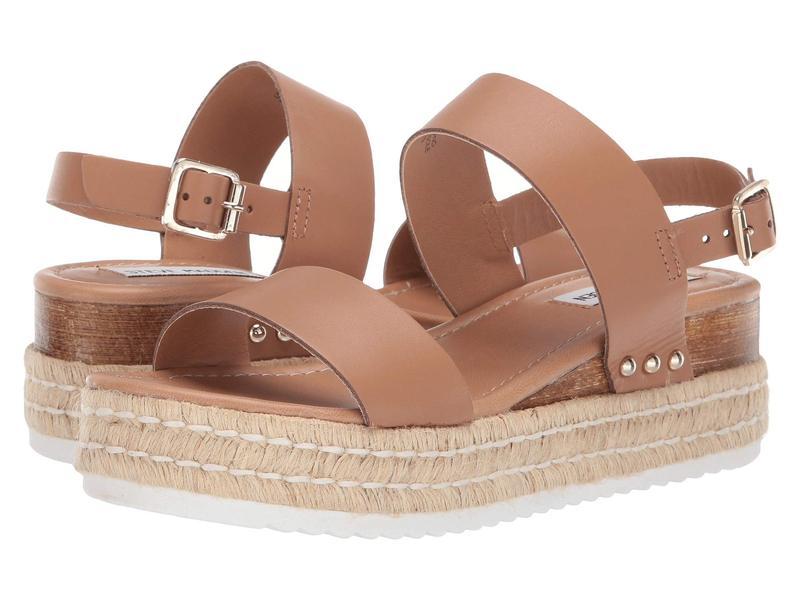 スティーブ マデン レディース ヒール シューズ Catia Wedge Sandal Natural Leather