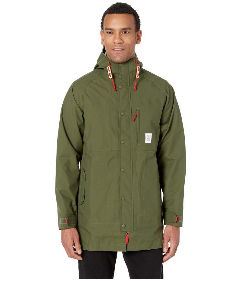 トポ・デザイン メンズ コート アウター Raincoat Olive