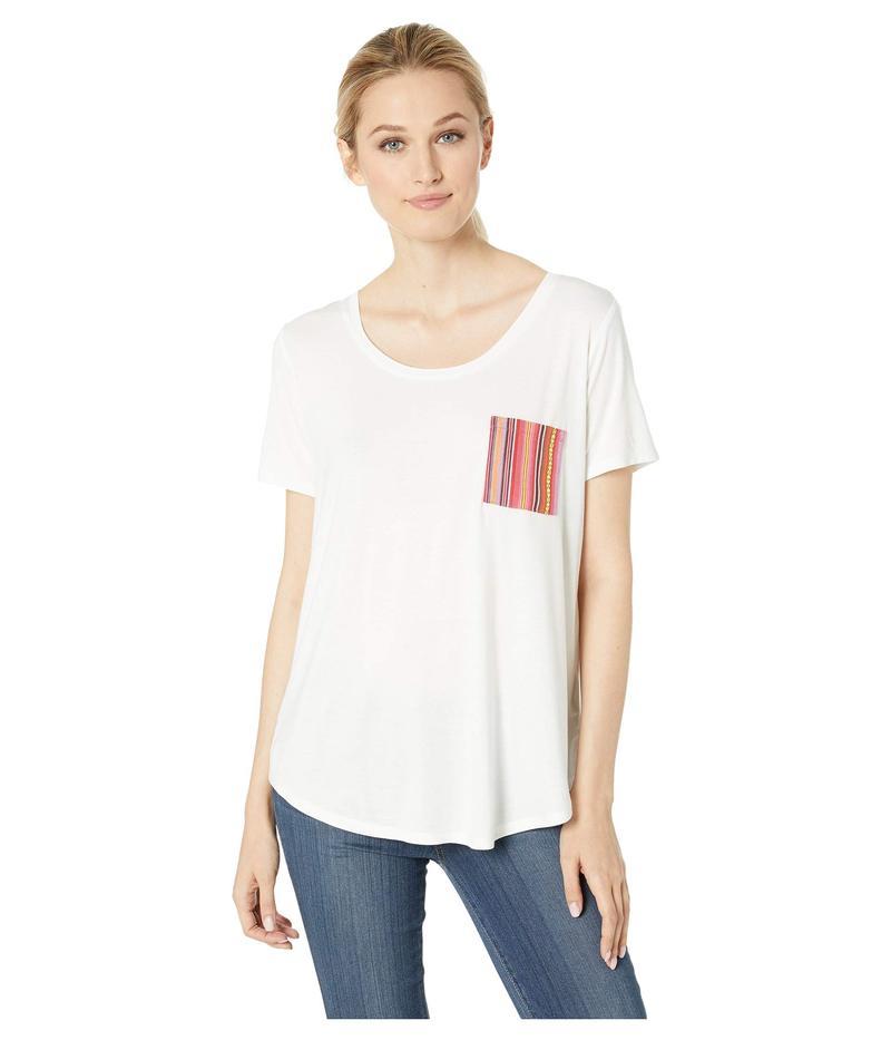 トリバル レディース シャツ トップス Soft Jersey Short Sleeve T-Shirt with Pocket Detail White
