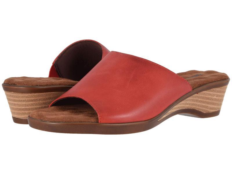 ウォーキング クレイドル レディース ヒール シューズ Kerry Red Leather