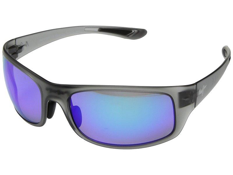 マウイジム メンズ サングラス・アイウェア アクセサリー Big Wave Translucent Matte Grey/Blue Hawaii