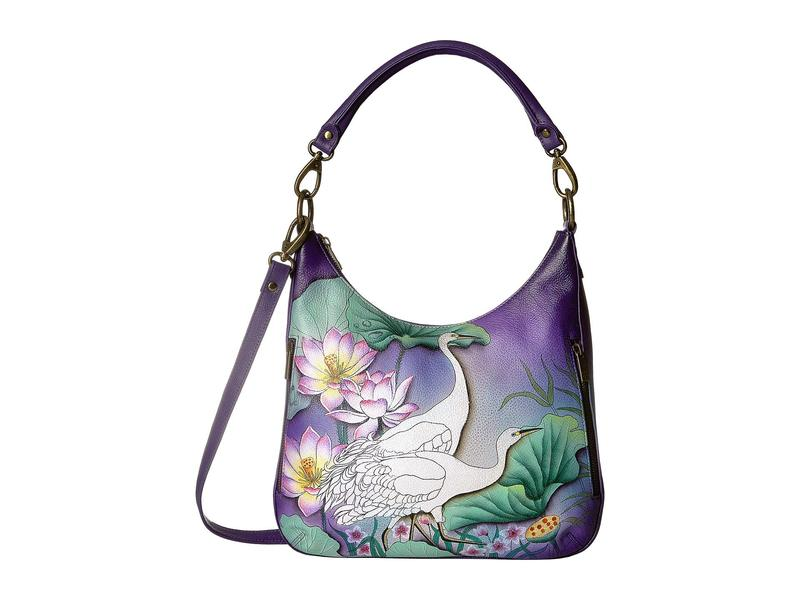 アヌスカ レディース ハンドバッグ バッグ 662 Convertible Slim Hobo with Crossbody Strap Peaceful Garden