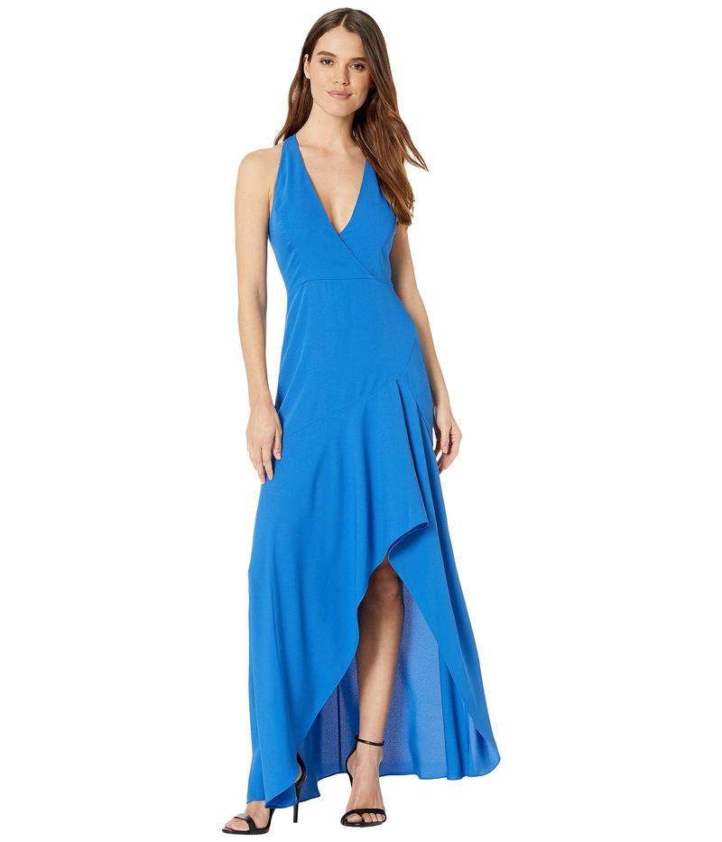 ビーシービージーマックスアズリア レディース ワンピース トップス Halter Ruffle Skirt Gown True Blue