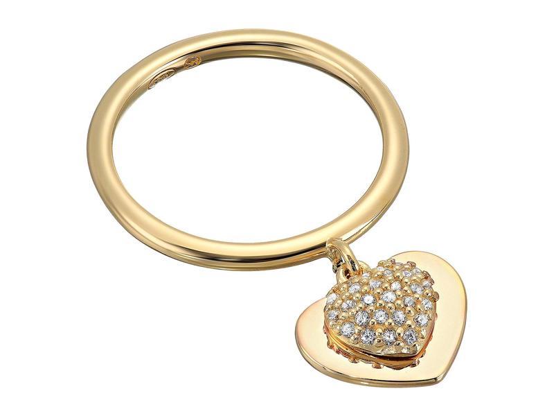 マイケルコース レディース リング アクセサリー Precious Metal-Plated Sterling Silver Pav Heart Ring Gold
