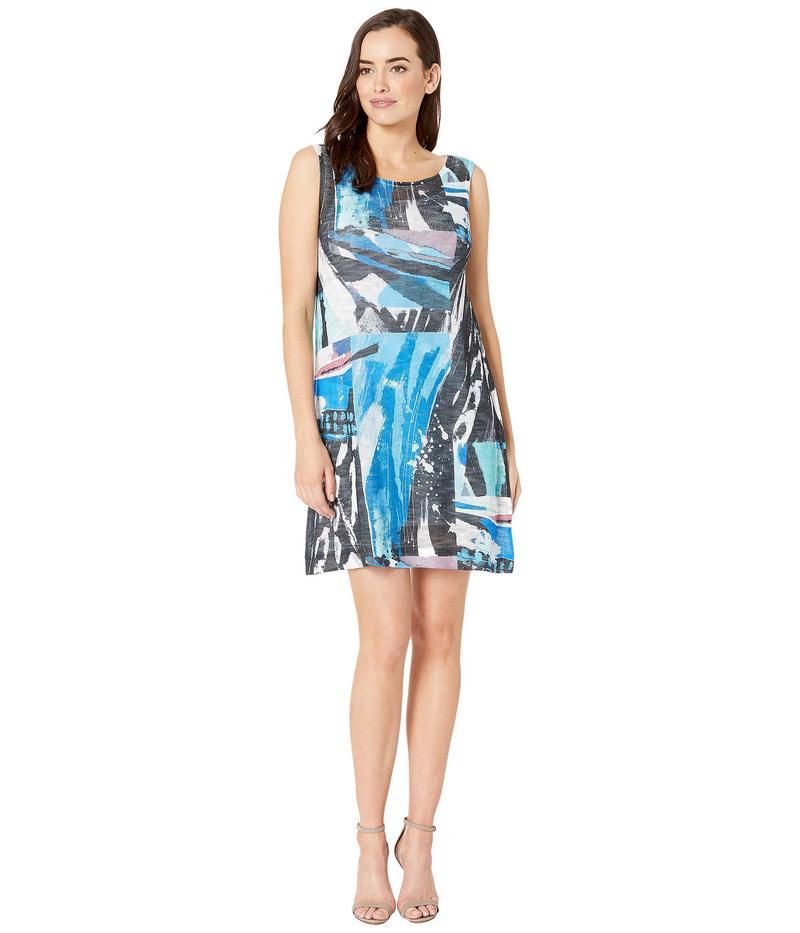 ナリーアンドミリー レディース ワンピース トップス Art Print Dress with Slip Dress Layer Multi