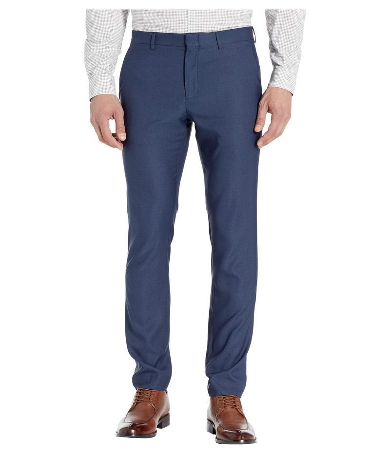 ペリーエリス メンズ カジュアルパンツ ボトムス Very Slim-Fit Stretch Heathered Dress Pants Navy