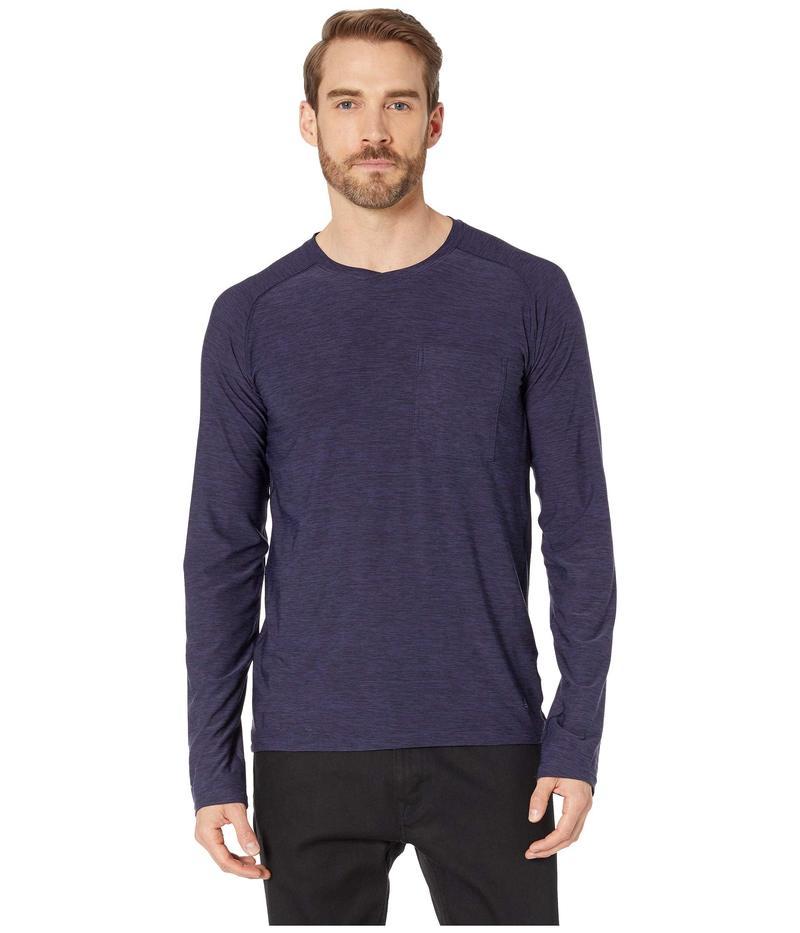 ロイヤルロビンズ メンズ シャツ トップス Bug Barrier¢ Tech Travel Long Sleeve Shirt Ink Blue Heather