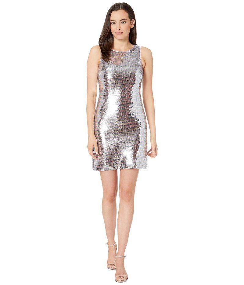 ヴィンスカムート レディース ワンピース トップス Sleeveless Bateau Neck Sequin Dress Pink Multi