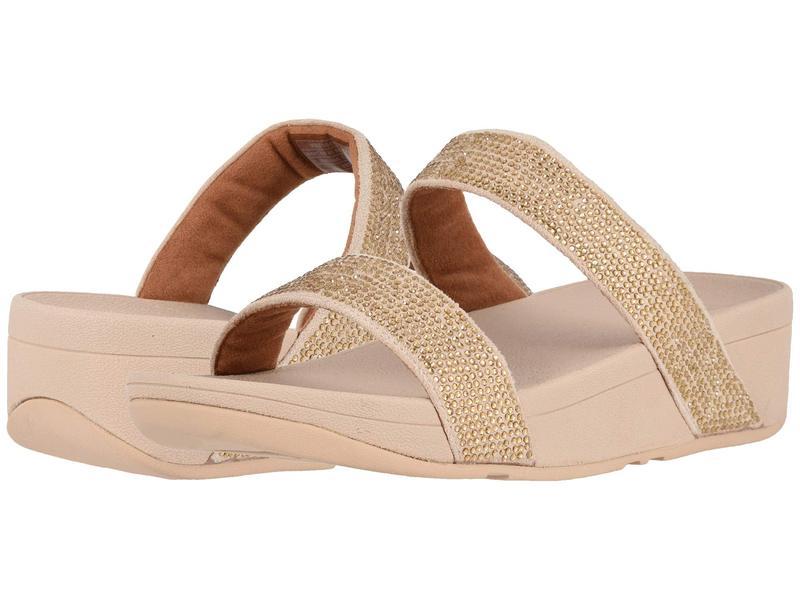フィットフロップ レディース サンダル シューズ Lottie Shimmer Crystal Slide Artisan Gold/Frappe