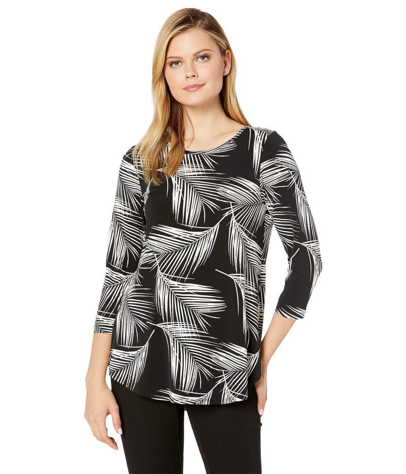 カレンケーン レディース シャツ トップス 3/4 Sleeve Shirttail Tee Print
