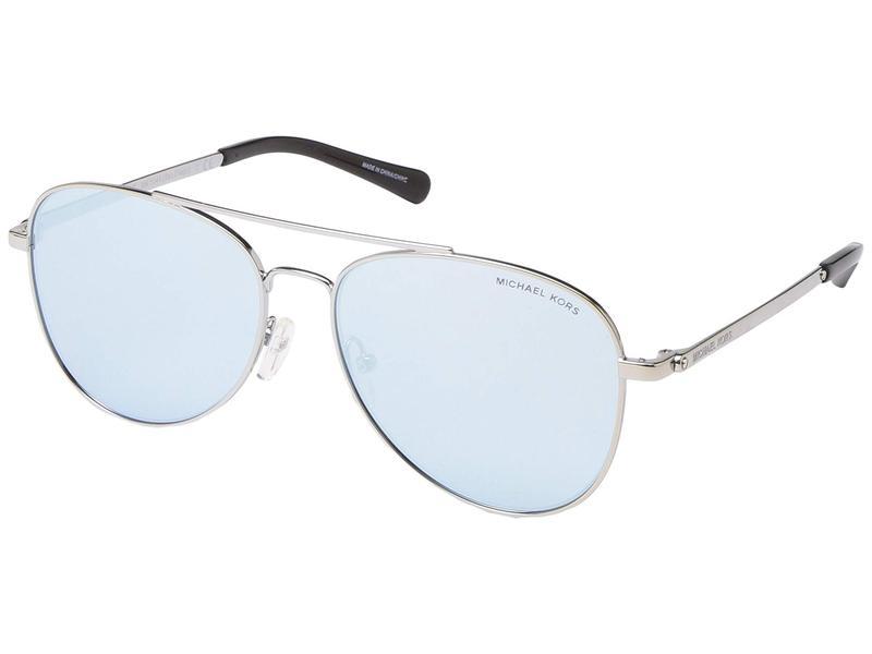 マイケルコース レディース サングラス・アイウェア アクセサリー 56 mm San Diego MK1045 Silver/Powder Blue Mirror